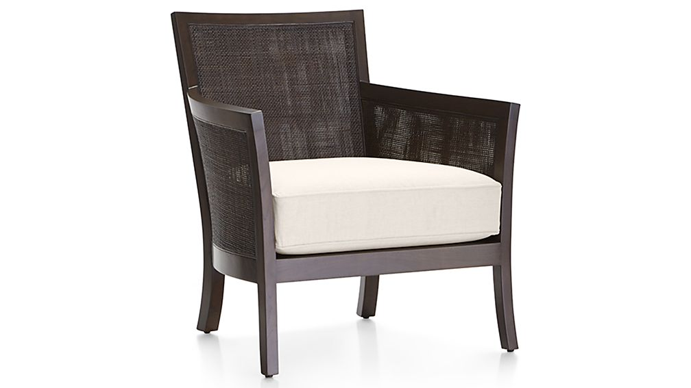 Blake Grey Rattan Armchair With Cushion Crate And Barrel