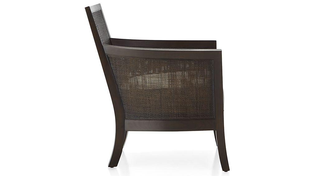 Blake Carbon Grey Chair with Fabric Cushion