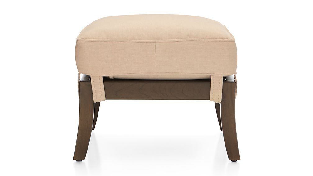 Blake Carbon Grey Ottoman with Fabric Cushion