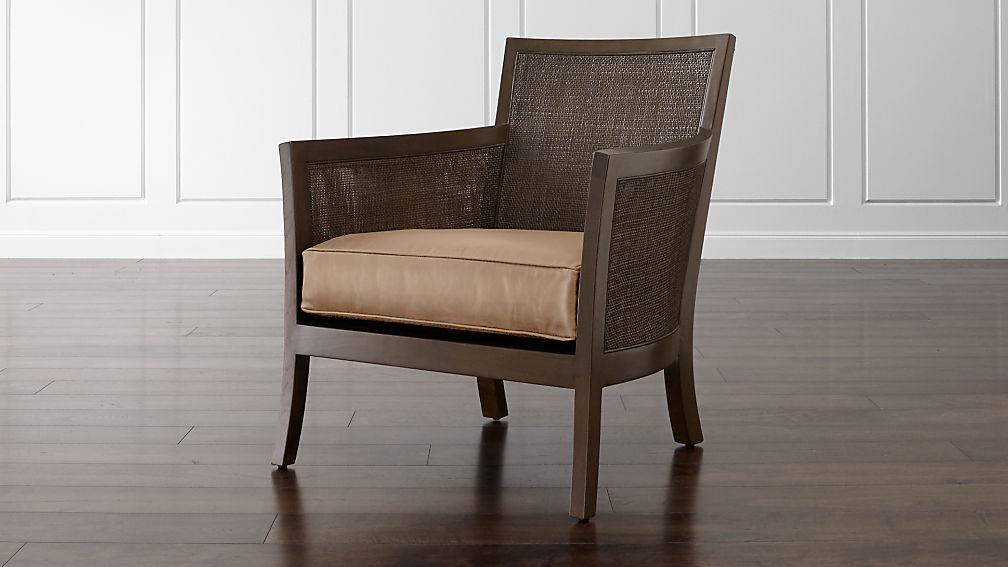 Blake Carbon Grey Chair with Leather Cushion