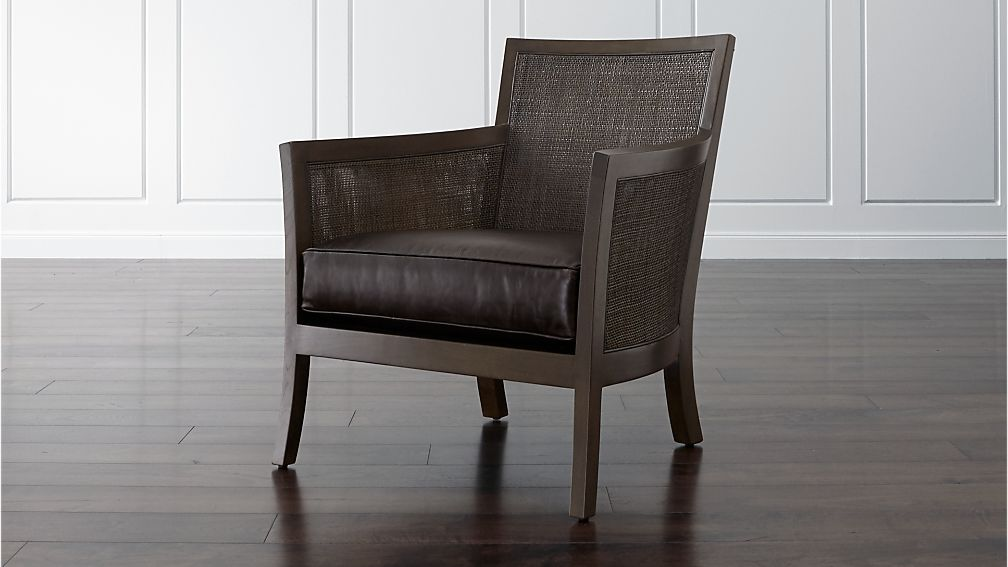 Blake Rattan Chair With Leather Cushion Reviews Crate