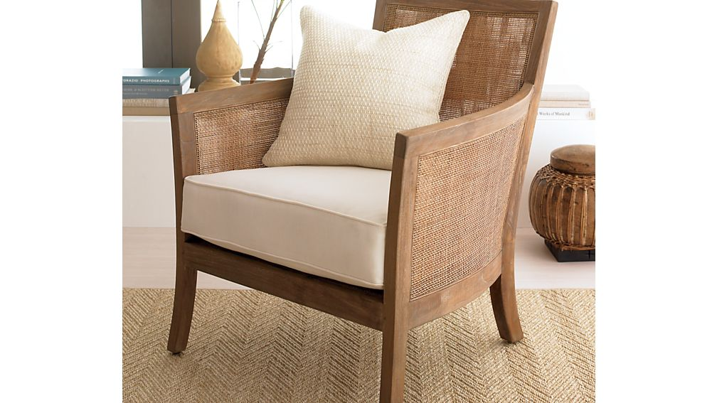 Blake Grey Wash Chair with Fabric Cushion