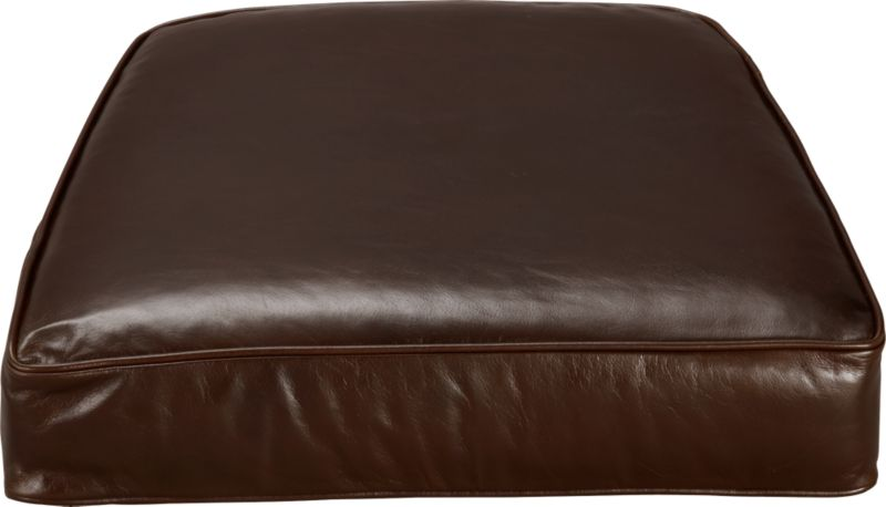 Blake Lounge Chair Cushion is top-grain, full-aniline leather plumped with polyfiber fill wrapped in ticking. Also available in fabric.<br /><br /><NEWTAG/><ul><li>Top-grain, full-aniline leather</li><li>Polyfiber cushion wrapped in ticking</li><li>Made in North Carolina, USA</li></ul>