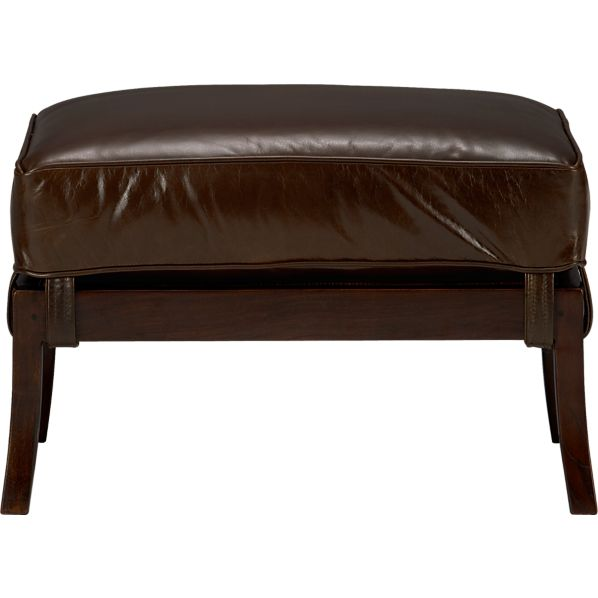 Blake Ottoman with Leather Cushion