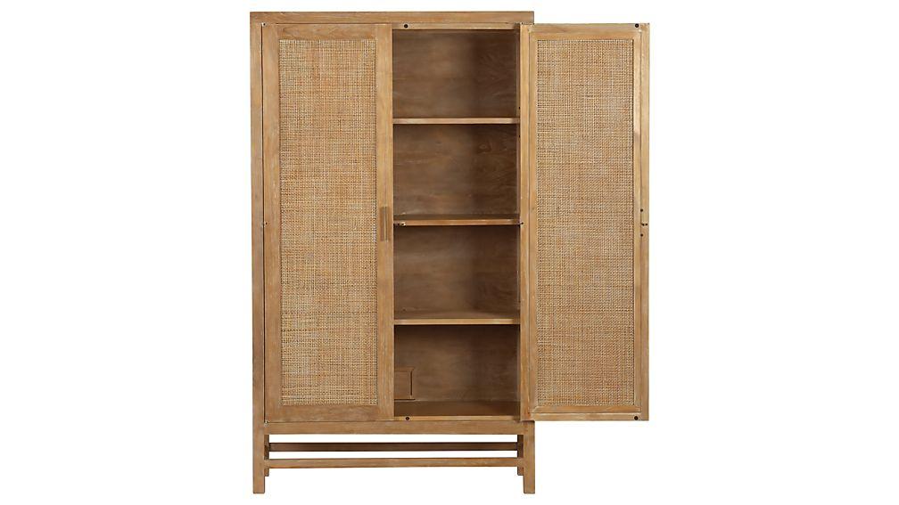 Blake Grey Wash 2-Door Cabinet