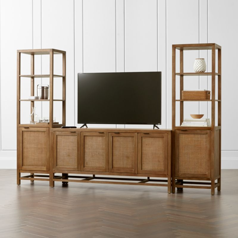 tv console wood furniture loading drawers media sliding image itm s rustic cabinet barn stand is doors