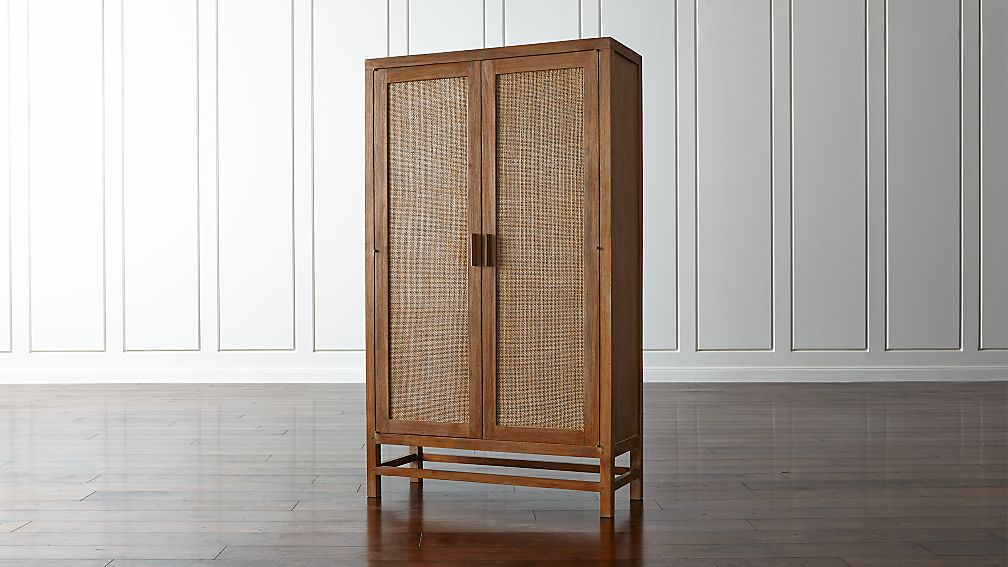 Blake Grey Wash 2-Door Cabinet | Crate and Barrel