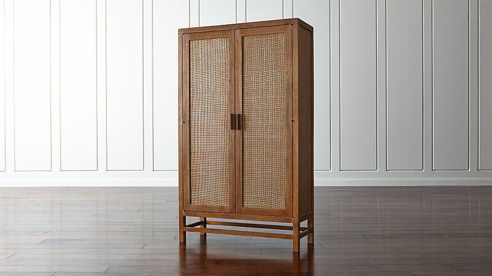 Blake Grey Wash 2 Door Cabinet Reviews Crate And Barrel