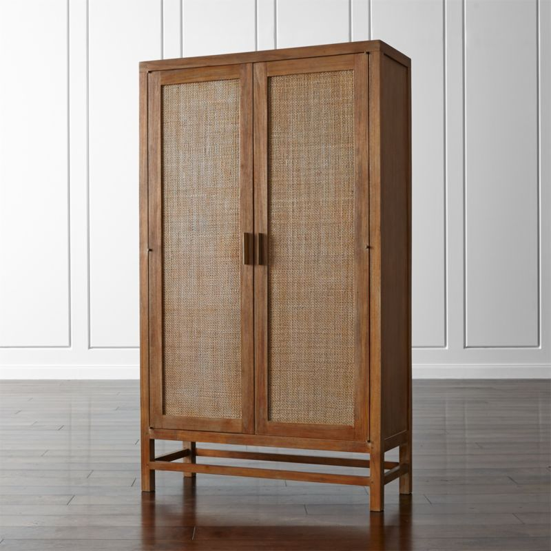 Blake Grey Wash 2 Door Cabinet Reviews Crate And Barrel