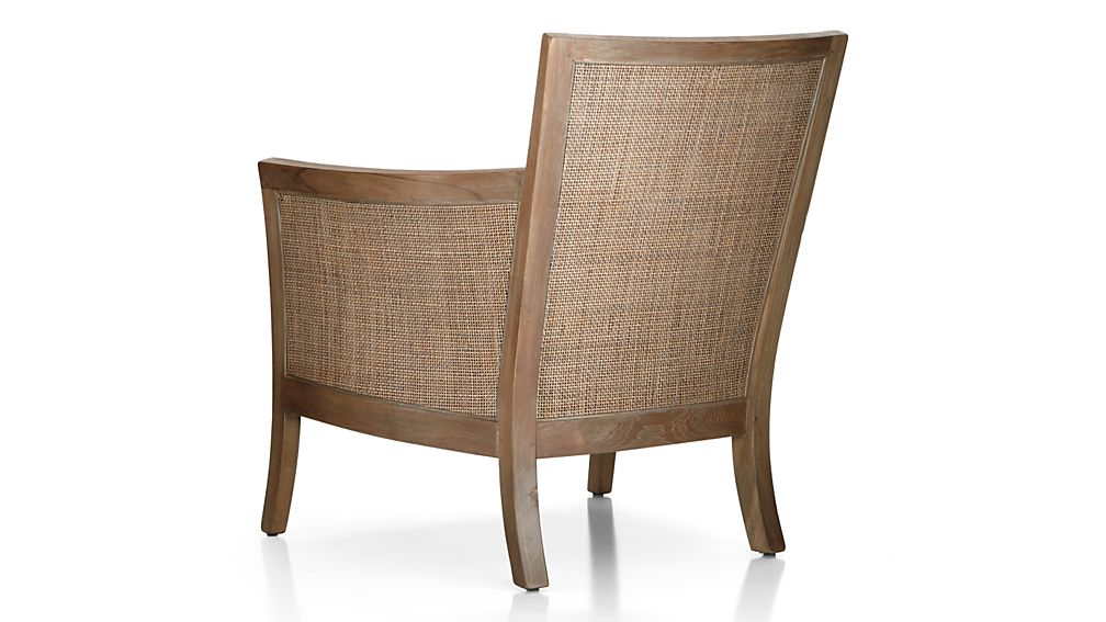 Blake Grey Wash Chair with Leather Cushion