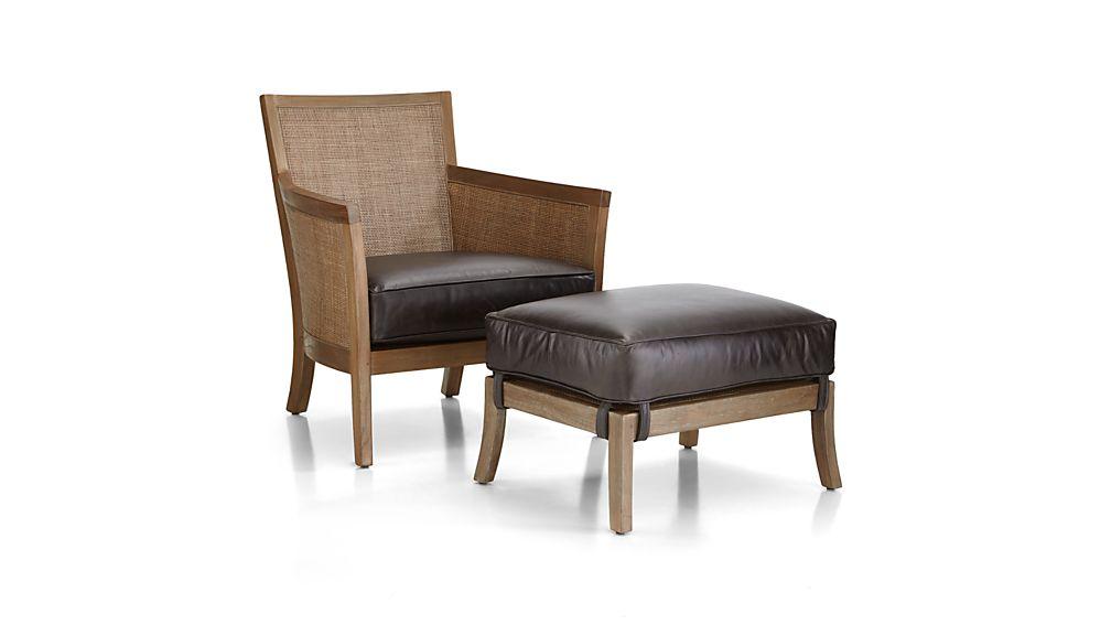 Blake Grey Wash Chair with Leather Cushion
