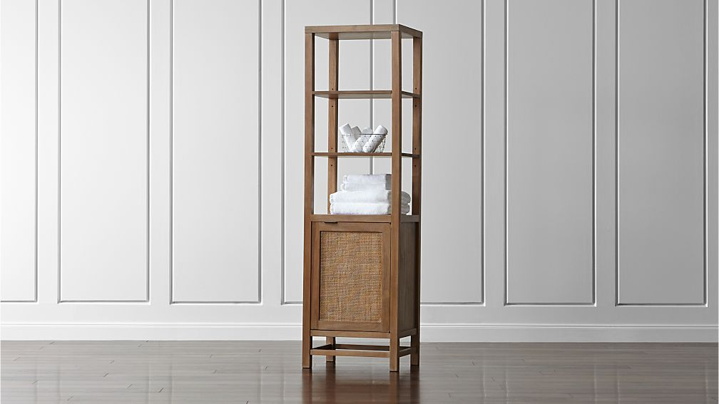 Blake Grey Wash Tall Cabinet Reviews Crate And Barrel