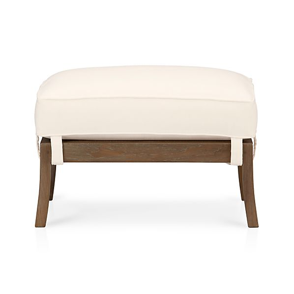 Blake Grey Wash Ottoman with Cushion