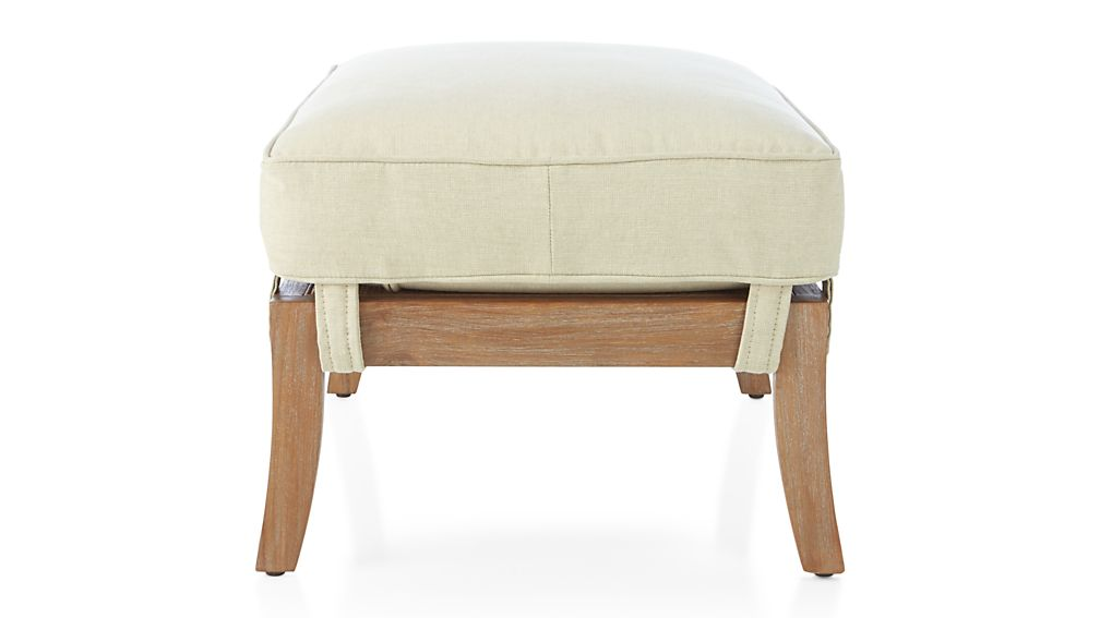 Blake Grey Wash Ottoman with Fabric Cushion