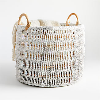 Blanca Natural/White Rope Basket