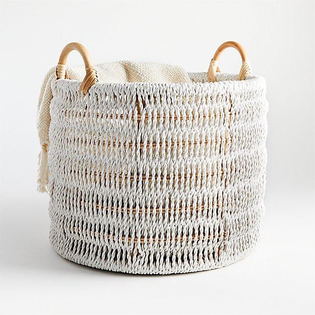 Blanca Natural/White Rope Basket - Image 1 of 3