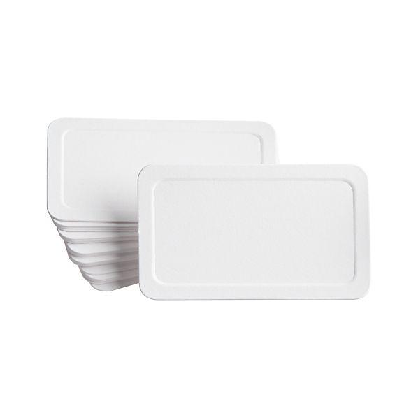 Set of 24 Blank Embossed Placecards
