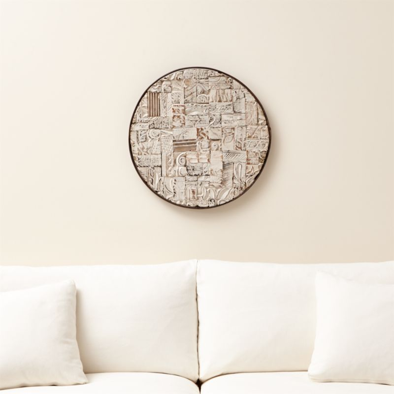 Circle Wall Art oversized wall art | crate and barrel