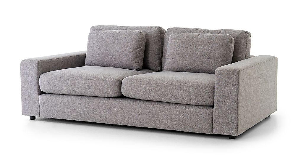 Bloor 82 Pewter Square Arm Sofa Reviews Crate And Barrel