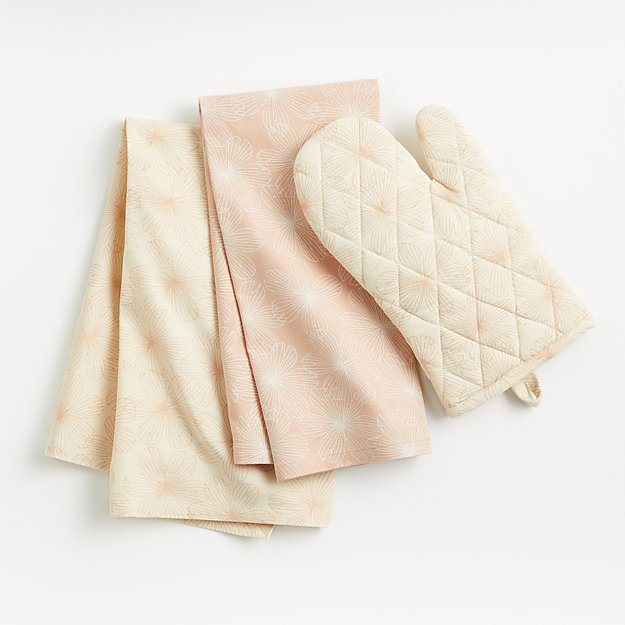 Blossom Oven Mitt and Dish Towels - Image 1 of 3