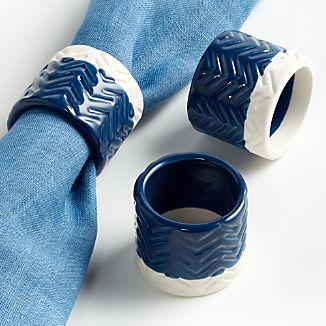 Blue Ceramic Napkin Ring