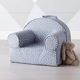 Small Blue Dash Nod Chair