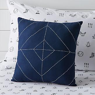 Blue Modern Throw Pillow