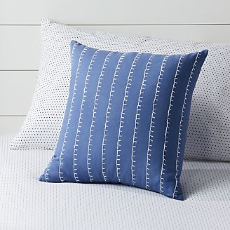 Blue Sched Throw Pillow