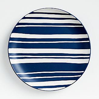 Blue Stripe Round Platter