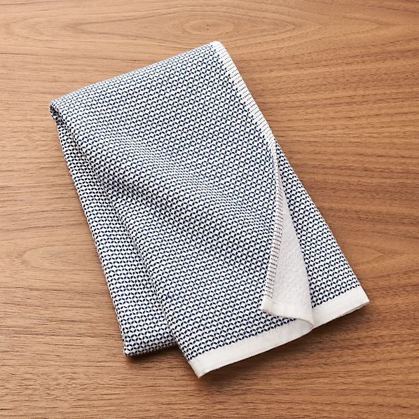 Blue Textured Terry Dish Towel