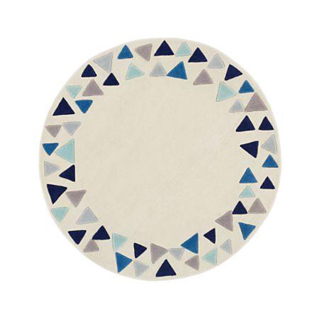 5 Blue Triangle Round Rug Reviews