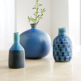 Blue Vase Arrangement