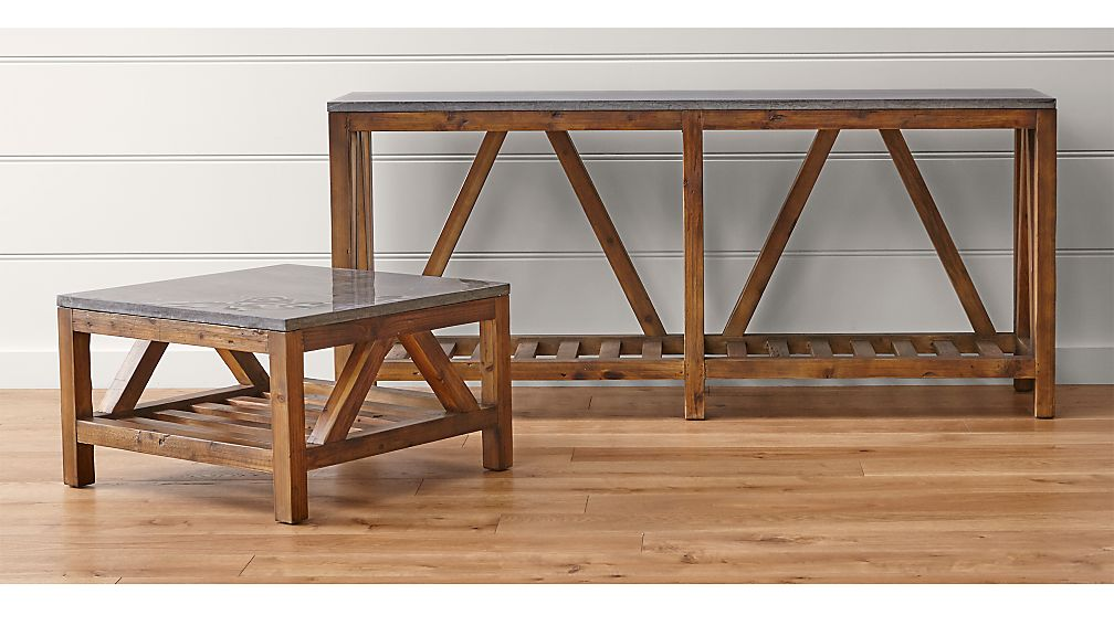 bluestone occasional tables | crate and barrel