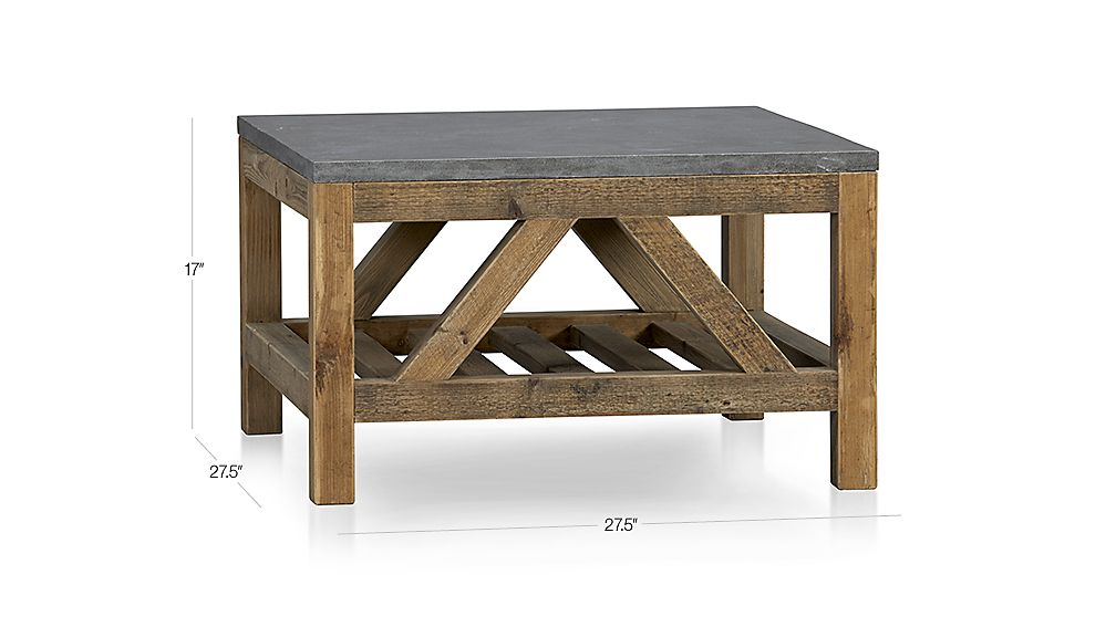 Bluestone Square Coffee Table : Crate and Barrel