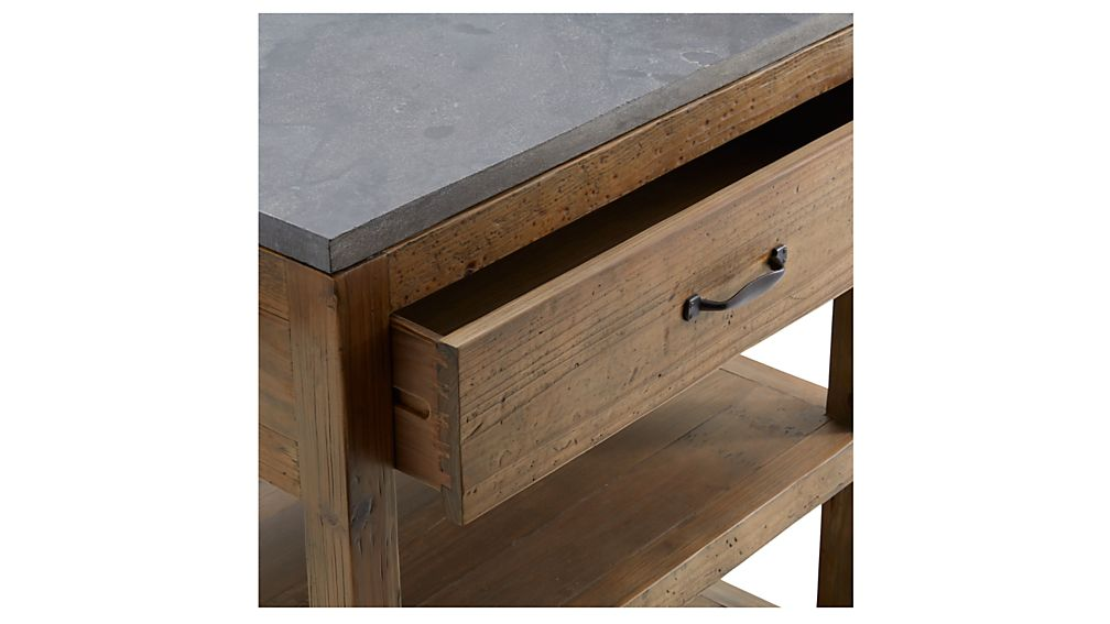Bluestone Reclaimed Wood Small Kitchen Island
