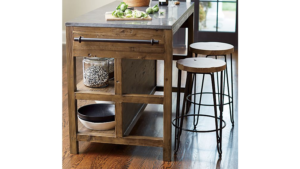 Bluestone Reclaimed Wood Large Kitchen Island
