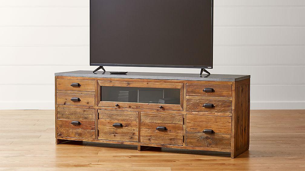 Bluestone Reclaimed Wood Media Console ... - Bluestone Reclaimed Wood Media Console Crate And Barrel