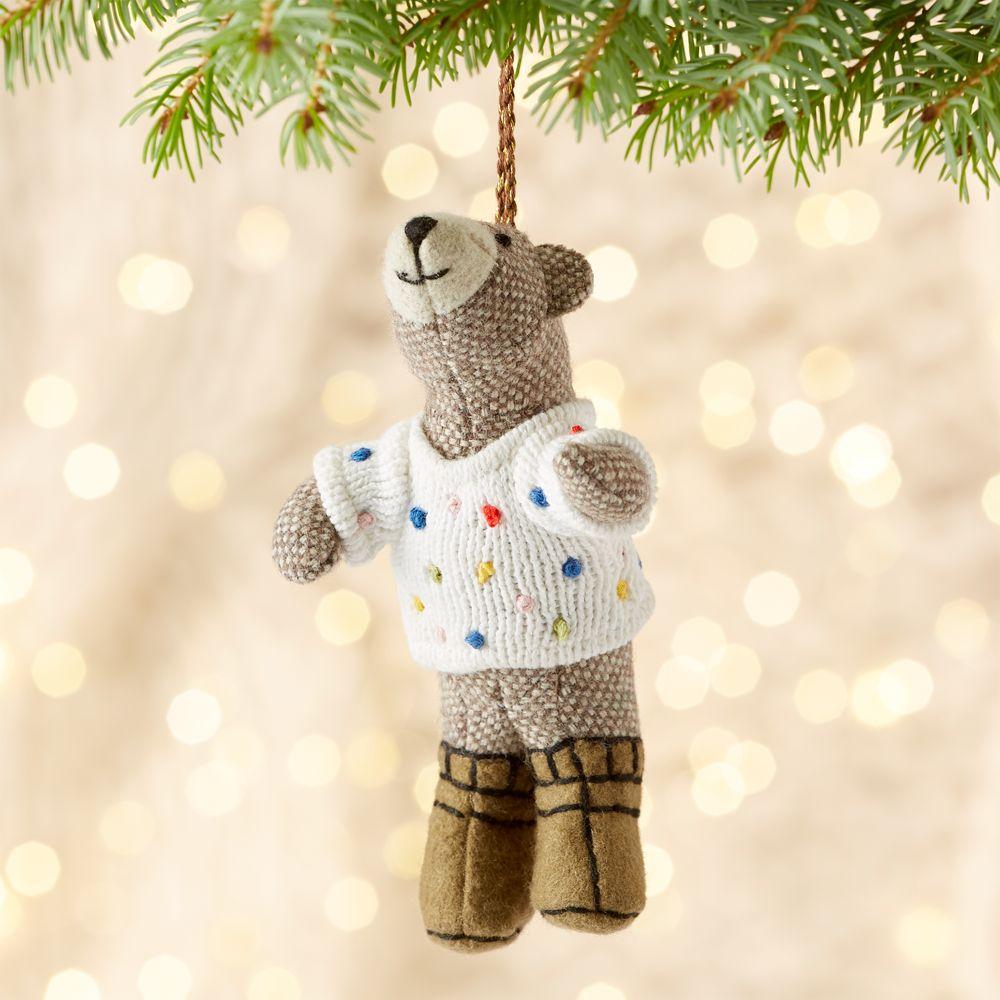 Bob the Bear in Polka Dot Sweater Ornament