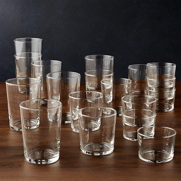 Bodega Mixed Glasses Set Of 18 Reviews Crate And Barrel