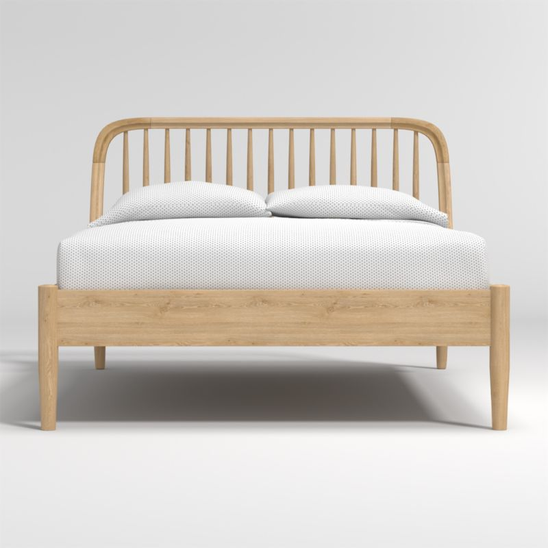 Bodie Oak Spindle Full Bed + Reviews