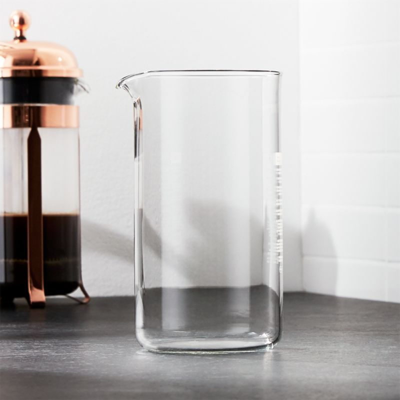 Glass carafe fits our Bodum® Chambord 32-ounce French Press.<br /><br /><NEWTAG/><ul><li>Glass</li><li>34-ounce capacity</li><li>Dishwasher-safe</li><li>Made in China</li></ul>