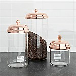 Bodum ® Chambord Classic Copper Storage Jars, Set of 3