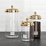Bodum ® Chambord Classic Gold Storage Jars, Set of 3