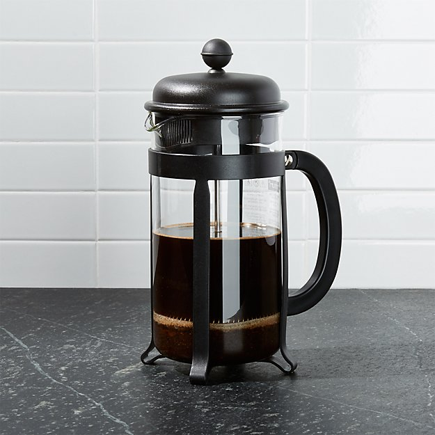 Bodum 8 Cup Java Black French Press Coffee Maker Reviews Crate And Barrel