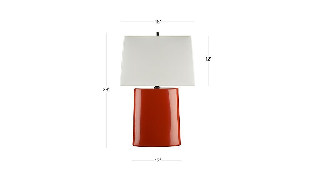 Tap to zoom image with dimension for boka persimmon table lamp