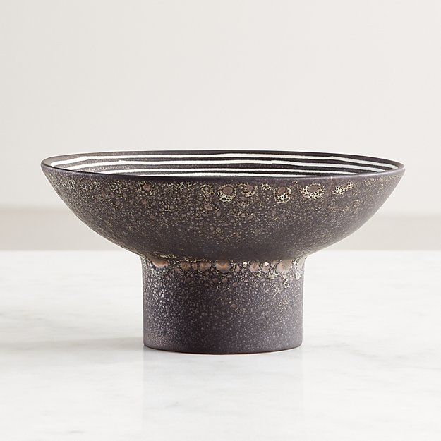 Bolton Black and White Decorative Bowl - Image 1 of 10
