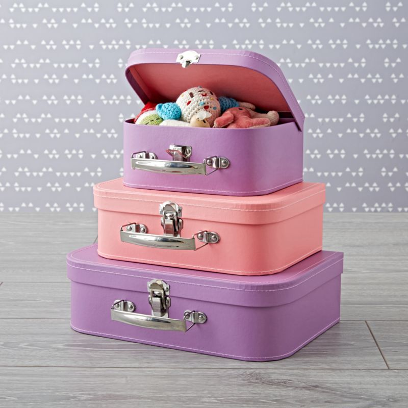 Pink Amp Purple Decorative Suitcases Reviews Crate And