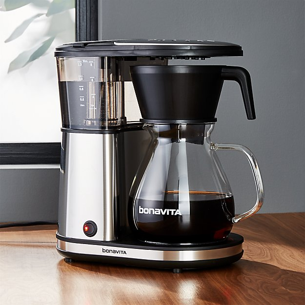 glass coffee maker bonavita 8 cup glass carafe coffee maker crate and barrel 29294