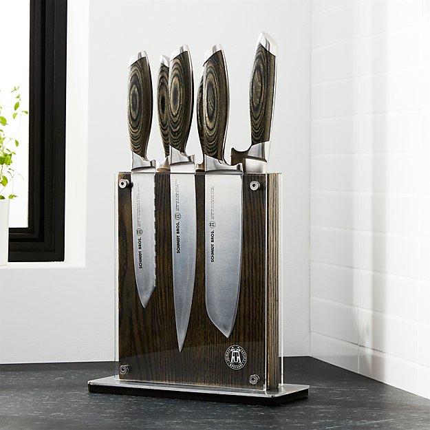 Schmidt Brothers ® Bonded Ash 7-Piece Knife Set - Image 1 of 5