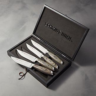 Schmidt Brothers ® Bonded Ash Steak Knives Set of Four
